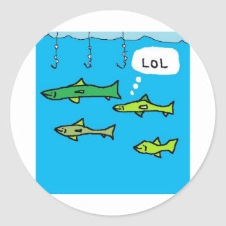 SMART FISH CLASSIC ROUND STICKER