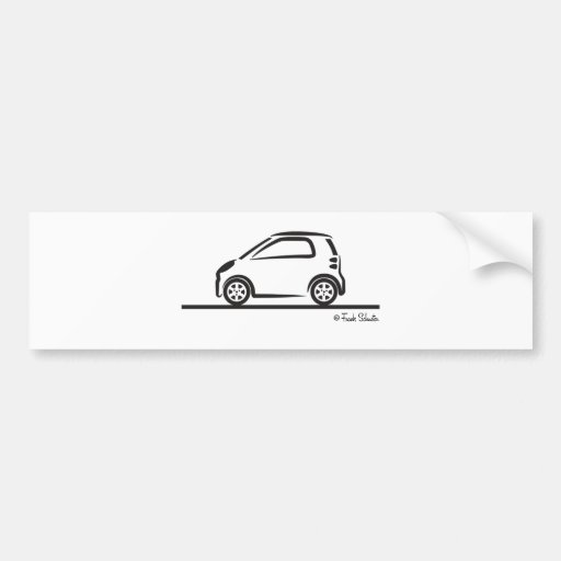 Smart Fortwo Side Bumper Sticker