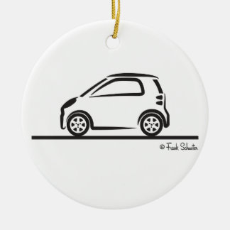 Smart Fortwo Side Round Ceramic Decoration