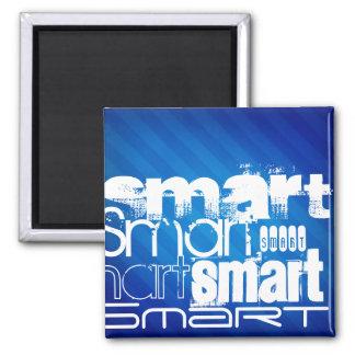 Smart; Funny Royal Blue Stripes Fridge Magnet