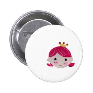 smart girl cute smile kawai 6 cm round badge