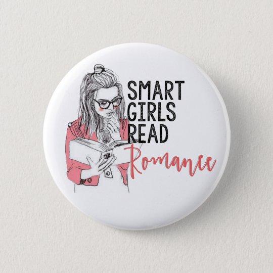 Smart Girls Read Romance Circle Button