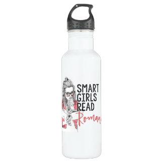 Smart Girls Read Romance Water Bottle