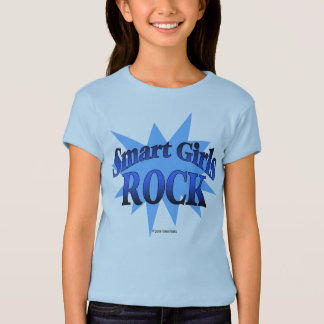 Smart girls Rock - blue shirt