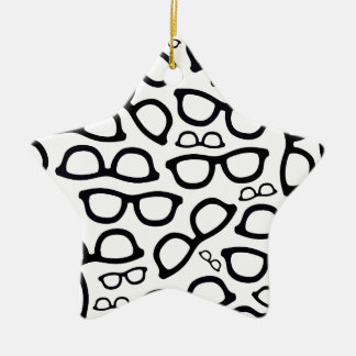Smart Glasses Pattern Ceramic Star Decoration