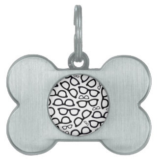 Smart Glasses Pattern Pet Tag