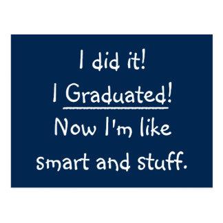 Smart Grad Funny Graduation Party Invitation Card Postcard