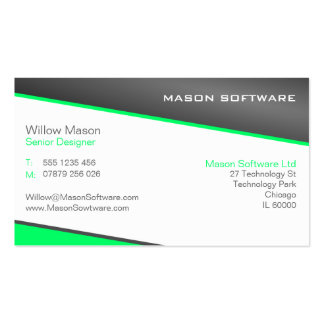Smart Green and Gray Professional Business Card