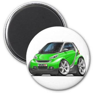 Smart Green Car 6 Cm Round Magnet