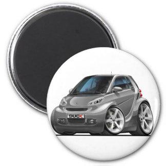 Smart Grey Car 6 Cm Round Magnet