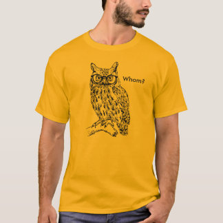 Smart Hipster Owl with Glasses Black Customizable T-Shirt