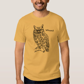 Smart Hipster Owl with Glasses Black Customizable Tee Shirts