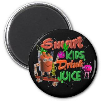 Smart Kids Drink Juice on 100+ items valxart.com 6 Cm Round Magnet