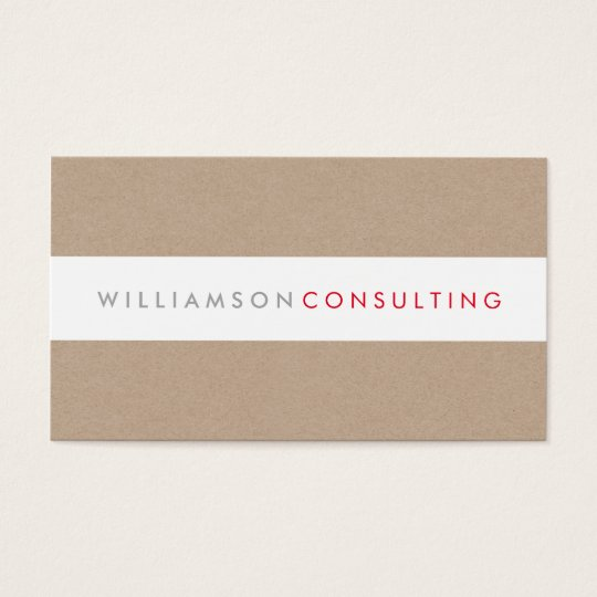 SMART MASCULINE modern type layout eco kraft Business Card