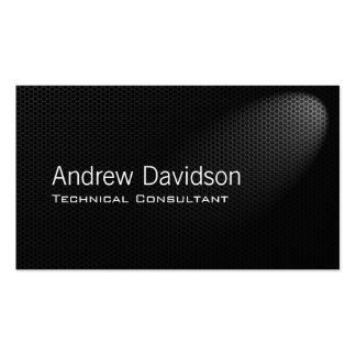 Smart metal grey mesh in spotlight pack of standard business cards