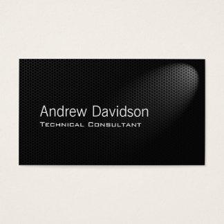 Smart metal grey mesh in spotlight business card