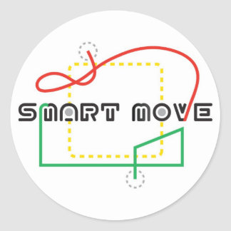 Smart Move 2009 FLL Classic Round Sticker