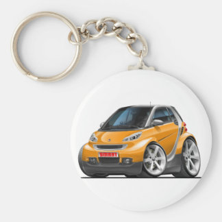 Smart Orange Car Basic Round Button Key Ring