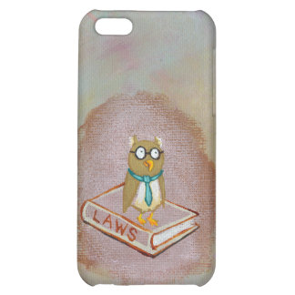 Smart owl art legal facts fun unique art painting case for iPhone 5C