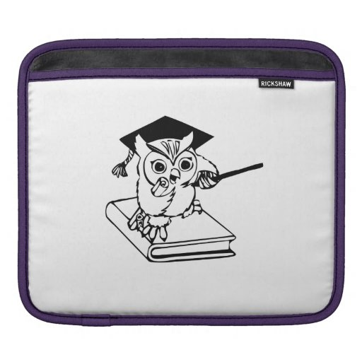 Smart Owl on Book Sleeve For iPads