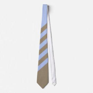 Smart Pale Blue Brown Textured Striped Tie