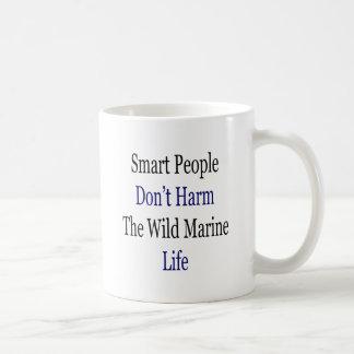 Smart People Don't Harm The Wild Marine Life Coffee Mug