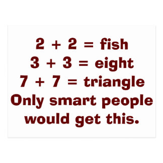 Smart People Math Postcards