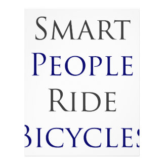Smart People Ride Bicycles Full Color Flyer