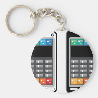 Smart Phone Basic Round Button Key Ring