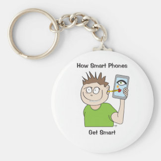 smart-phone basic round button key ring