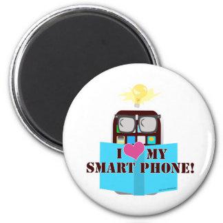 Smart Phone Love 6 Cm Round Magnet
