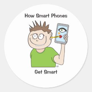 smart-phone round sticker