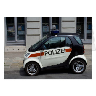 smart Police Car Card