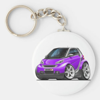 Smart Purple Car Basic Round Button Key Ring