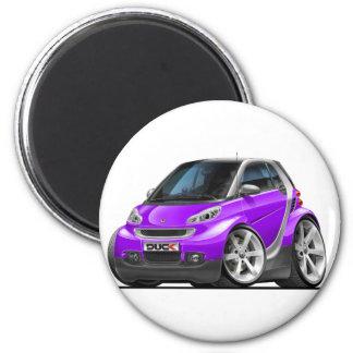 Smart Purple Car 6 Cm Round Magnet