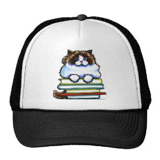 Smart Ragdoll Kitty Books Hat