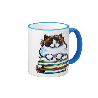 Smart Ragdoll Kitty Books Coffee Mugs