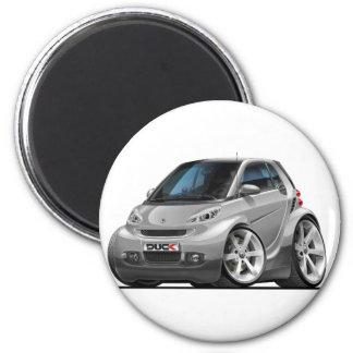 Smart Silver Car 6 Cm Round Magnet