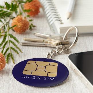 Smart SIM Card mega format in faux gold Key Ring