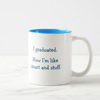 Smart Stuff Graduate Grad Funny Graduation Quote Two-Tone Coffee Mug