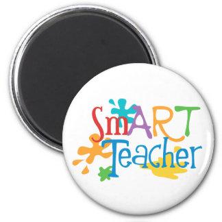 smART Teacher for the Art Teacher 6 Cm Round Magnet