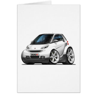 Smart White Car Card