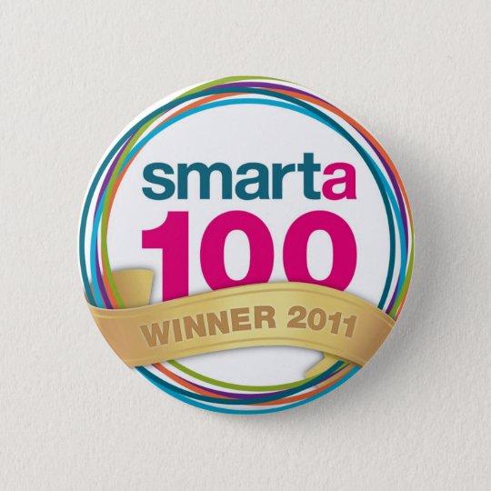 Smarta 100 winners' merchandise! 6 cm round badge