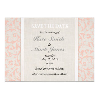 SmartElegance Coral Save the Date 13 Cm X 18 Cm Invitation Card