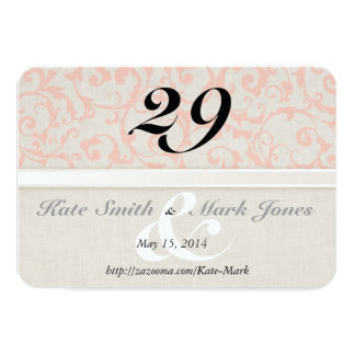 SmartElegance Coral Table Number Card 9 Cm X 13 Cm Invitation Card