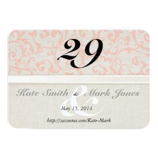 SmartElegance Coral Table Number Card 9 Cm X 13 Cm Invitation Card