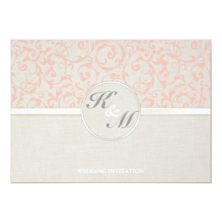 SmartElegance Coral Wedding Invitation