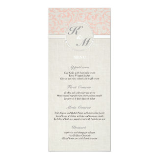 SmartElegance Coral Wedding Menu Card