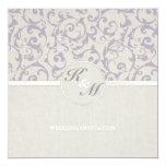 SmartElegance lavender Wedding Collection 13 Cm X 13 Cm Square Invitation Card