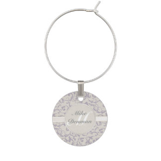 SmartElegance lavender Wedding Collection Wine Charm
